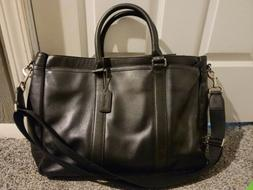 Beautiful Coach Black Leather Large Briefcase Used