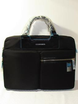 PIQUADRO Celion 16'' Briefcase with Laptop Compartment in Bl
