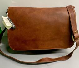 I Medici Italy Brown Italian Leather Briefcase Messenger Bag