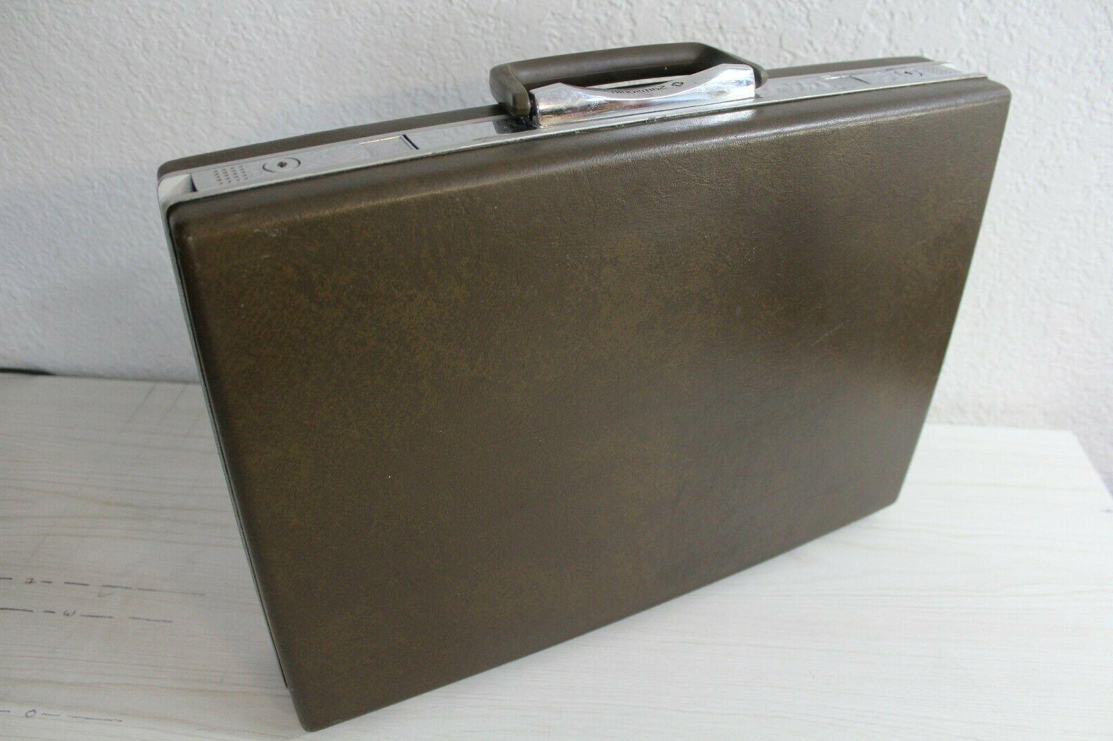 vintage mcm brown hard shell attache business