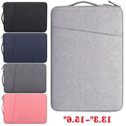 Notebook Laptop Sleeve Pouch Padded Carry On Bag Case w/ Zip