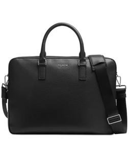 NWT Michael Kors $398 Bryant Large Leather Briefcase New Bla