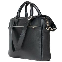 DiLoro Slim Business Italian Leather Briefcase for Men Made