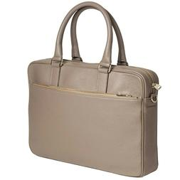 DiLoro Slim Business Italian Leather Briefcase for Women Mad