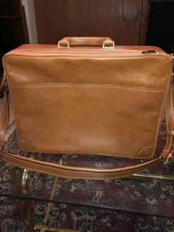 COLE HAAN Vintage Italian Tan Luxury Leather Briefcase  Made